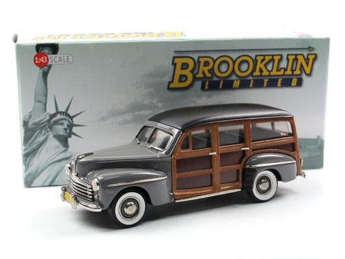 Brooklin Models 1948 Ford V8 Woodie Station Wagon gray 1/43