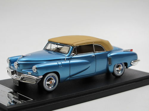 ESVAL 1948 Tucker 48 Torpedo Convertible Top Up blue 1/43