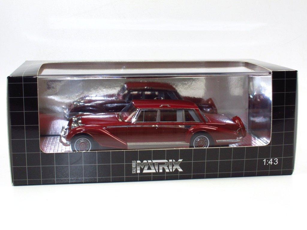 Matrix 51302-121 1980 dunkelrot 1:43 Mercedes Benz 600 Buchman /& Buchman Bj