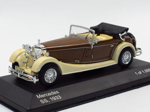 WhiteBox 1933 Mercedes-Benz SS (W 06) beige/braun 1/43