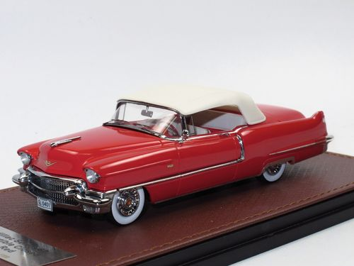 GLM 1956 Cadillac Series 62 Convertible red closed 1/43