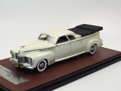 GLM 1941 Cadillac Miller Meteor Flower Car Hearse white 1/43