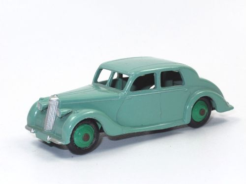 Dinky Toys 40A Riley Saloon pale green 50er Jahre