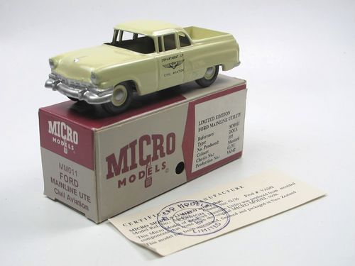 Micro Models Ford Mainline UTE CIVIL AVIATION mint/boxed