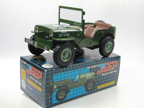 ITES Tin Toy Willys Jeep MB Friktion Blech ca. 1/20 OVP