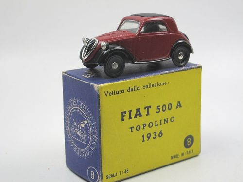 DUGU Museo 1936 Fiat 500 A Topolino red closed 1/43