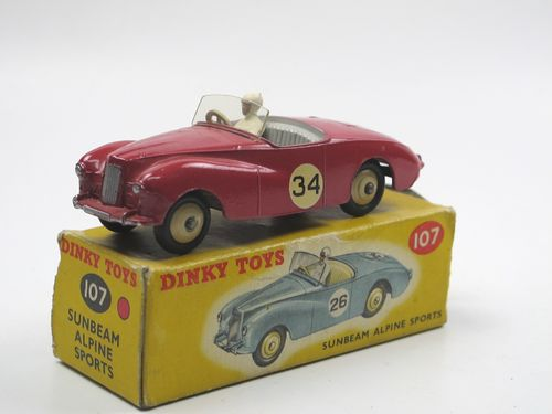 Dinky Toys 107 - Sunbeam Alpine Sports red #34 in Box