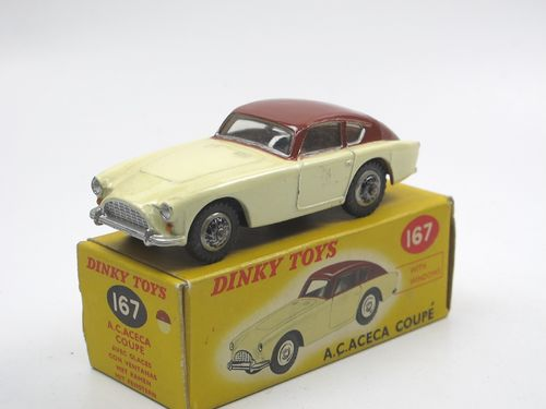 Dinky Toys 167 - AC Aceca Coupe creme/braun in Box