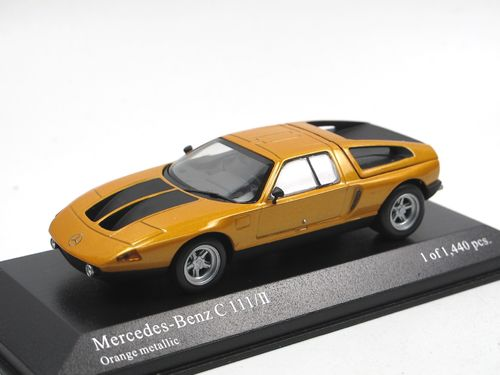 Minichamps 1970 Mercedes-Benz C111/II orange metallic 1/43