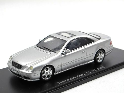 Spark Model 2000 Mercedes-Benz CL 55 AMG silber 1/43
