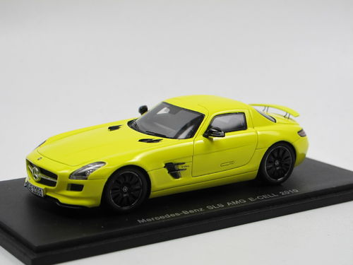Spark Model 2010 Mercedes-Benz SLS AMG E-Cell gelb 1/43