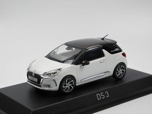 Norev 2016 Citroen DS 3 Pearl White / brown 1/43