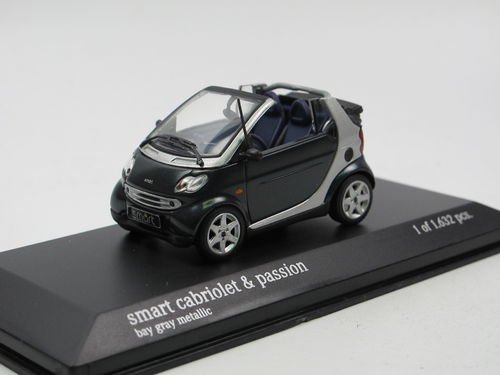 Minichamps 2000 Smart Fortwo Cabriolet dunkelgrau/silber 1/43