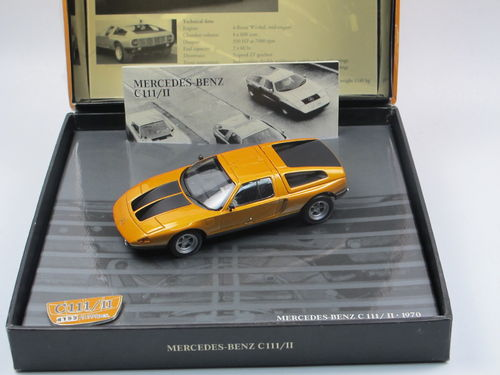 Minichamps Mercedes-Benz C111/II 1970 orange metallic 1/43