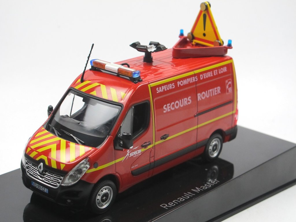 OVP RENAULT MASTER 1:43 SOLIDO MODELL 2160 // 2161 POMPIERS