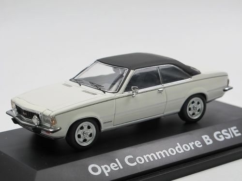 Schuco 1973 Opel Commodore B GS/E Polarweiss 1/43