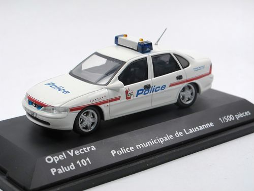 Schuco Opel Vectra B Limousine POLICE LAUSANNE 1/43