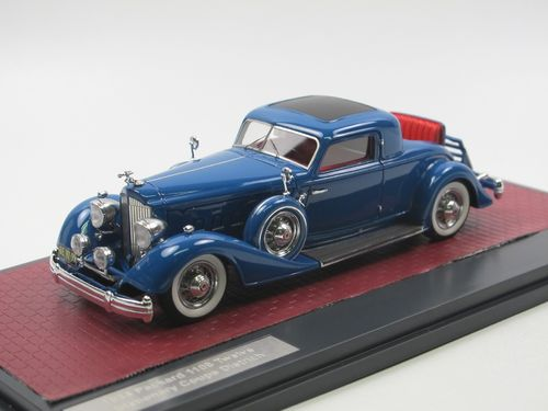 Matrix 1934 Packard 1108 Twelve Coupe Dietrich blue 1/43