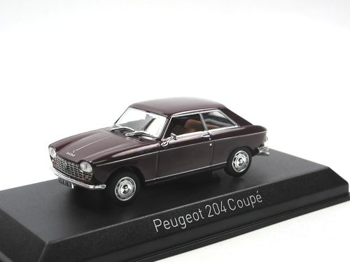 Norev 1967 Peugeot 204 Coupe maroon 1/43