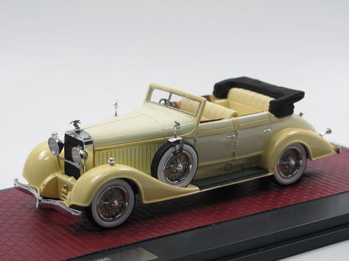 Matrix 1928 Hispano-Suiza H6C Convertible Hibbard Darrin 1/43