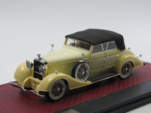 Matrix Hispano-Suiza H6C closed Cabriolet Hibbard Darrin 1/43