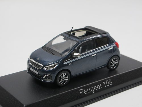 Norev 2017 Peugeot 108 Collection TOP! blau 1/43