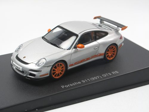 Autoart 2006 Porsche 911 997 GT3 RS silber/orange 1/43