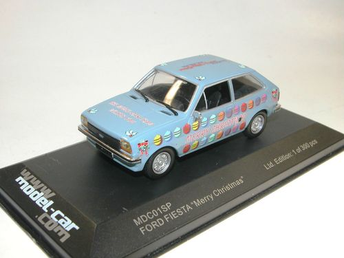 "IXO 1976 Ford Fiesta MKI ""MERRY CHRISTMAS"" 1/43"