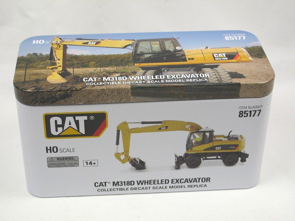 1:87 NEU+OVP CAT M318D Mobilbagger DIECAST MASTERS 85177 Die Cast