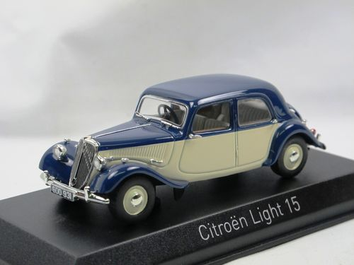 Norev 1949 Citroen Light Fifteen RHD blue/cream 1/43