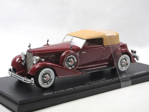 Automodello 1934 Packard 12 Victoria Dietrich dark red 1/43