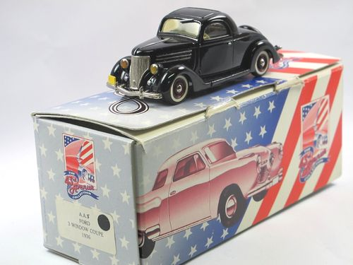 43rd Avenue Milestone 1936 Ford 3 Window Coupe black 1/43