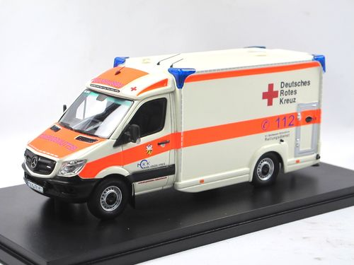 Matrix 2018 Mercedes-Benz Sprinter Miesen Ambulanz DRK 1/43
