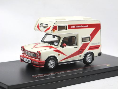 Ist Models 1980 Trabant 601 Wohnmobil weiß/rot 1/43