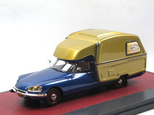 Matrix 1973 Citroen DS ID Camper blau/gold 1/43