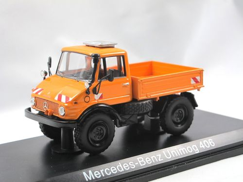 Schuco Mercedes-Benz Unimog 406 Pritsche orange 1/43
