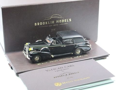 Brooklin 1938 Cadillac V16 Series 90 Town Car Vatikan 1/43