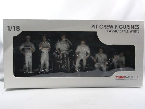 TSM Model Pit Crew Figurines Classic Style White 1/18