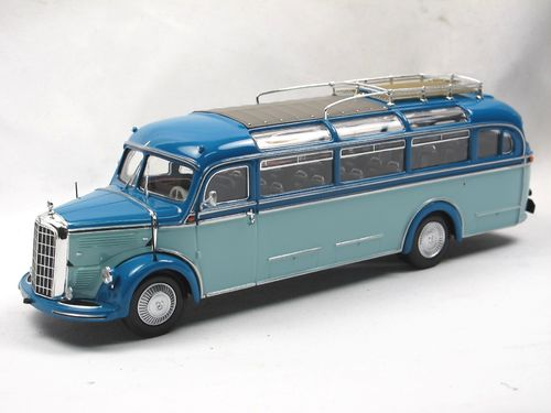 Minichamps 1955 Mercedes-Benz O 3500 Bus blau 1/43