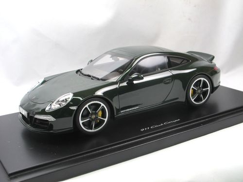 GT Spirit 2014 Porsche 911 991 Club Coupe grün 1/18