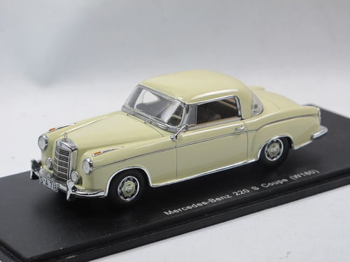 Spark Mercedes-Benz 220 S Coupe (W180) 1956 creme 1/43