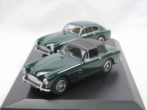 Oxford Diecast Aston Martin Db2 Mkiii Saloon Dhc Set Green 1 43