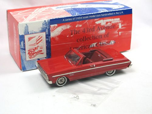 43rd Avenue Milestone 1965 Plymouth Fury Convertible red 1/43