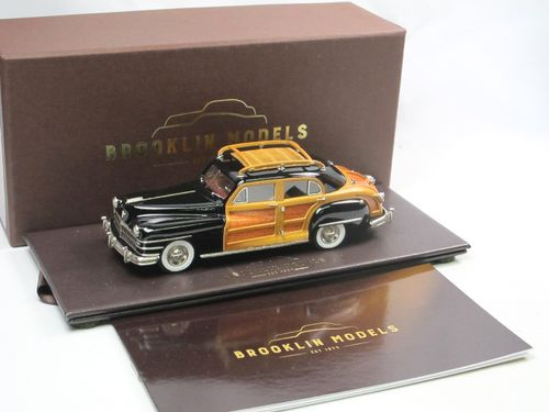 Brooklin 1947 Chrysler Windsor Town Country Sedan black 1/43