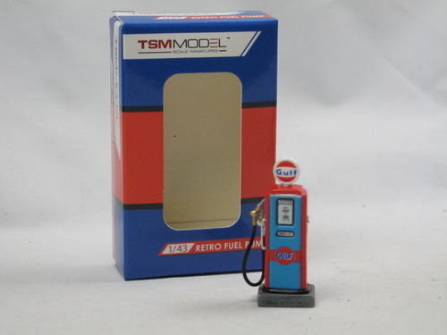 TSM Model Retro Fuel Pump Zapfsäule Gulf Oil Type II 1/43
