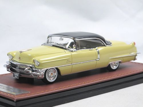 GLM 1956 Cadillac Coupe DeVille Goddess Gold/Black 1/43