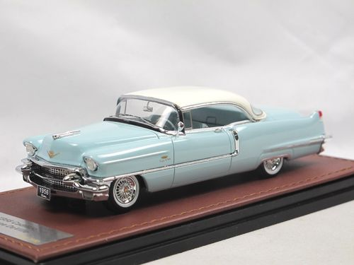 GLM 1956 Cadillac Coupe DeVille Sonic Blue / White 1/43