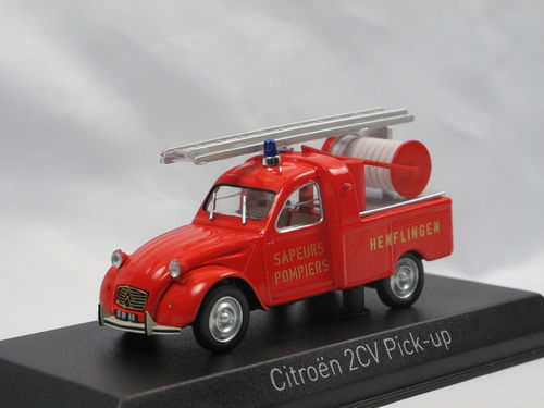 Norev 1963 Citroen 2CV Pick-Up POMPIERS 1/43