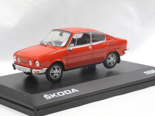Abrex 1980 Skoda 110R Coupe Racing Red 1/43