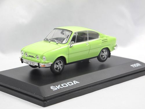 Abrex 1980 Skoda 110R Coupe Lime Green 1/43